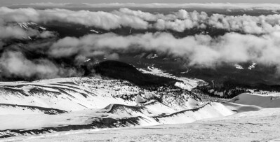 Looking down from Timberline.  Mt Hood.  Oregon